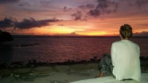Watching the sun go down on Gili Trawangan