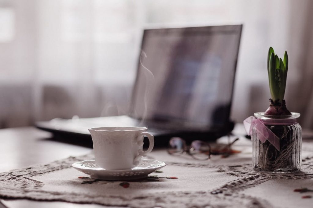 laptop with a plant and tea cup 6 Top Tips